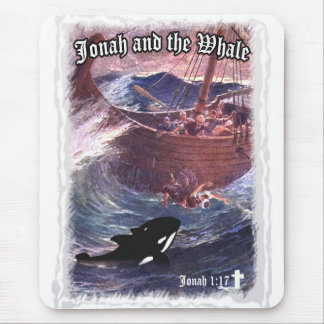 Jonah 1 17 - Jonah and the Whale Mouse Pads