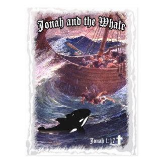 Jonah 1:17 - Jonah and the Whale Postcard