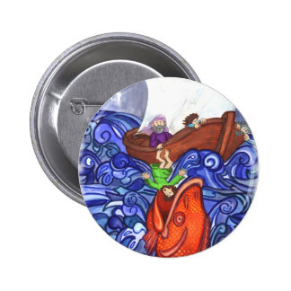 Jonah and the Big Fish 6 Cm Round Badge