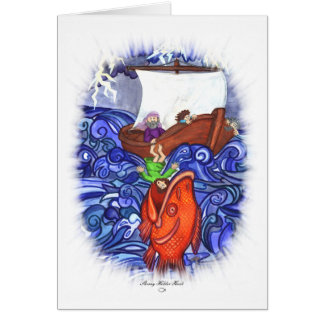 Jonah and the Big Fish Greeting Card