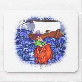Jonah and the Big Fish Mouse Mat
