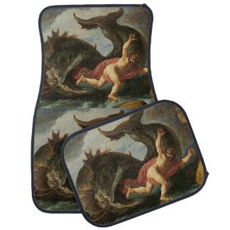 """""""Jonah and the Whale"""" art floor mats Floor Mat"""