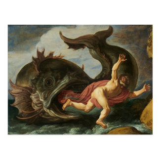 """""""Jonah and the Whale"""" art postcard"""