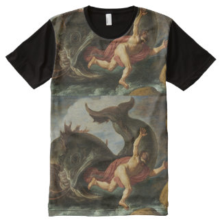 """Jonah and the Whale"" art t-shirt All-Over Print T-Shirt"