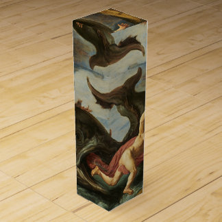 """Jonah and the Whale"" art wine gift box"