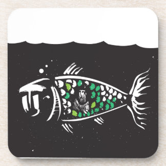 Jonah and the Whale Beverage Coasters