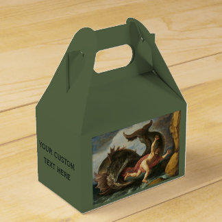 """Jonah and the Whale"" custom favor box Wedding Favour Box"