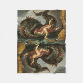 """Jonah and the Whale"" fleece blanket"