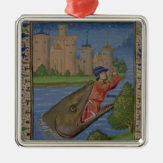 Jonah and the Whale, from the Bible of Jean XXII Christmas Ornament