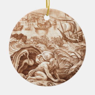 Jonah And The Whale Christmas Tree Decorations Ornaments Zazzle