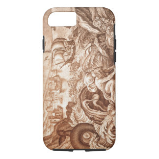 Jonah and the Whale, illustration from a Bible, en iPhone 7 Case