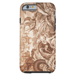 Jonah and the Whale, illustration from a Bible, en Tough iPhone 6 Case