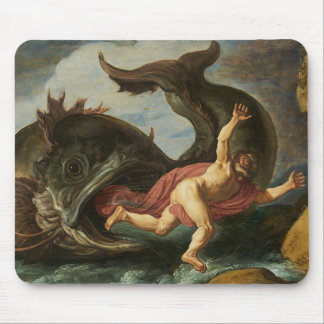 """Jonah and the Whale"" mousepad"