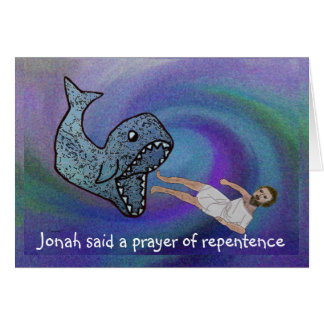 Jonah and the Whale Rosh Hashanah Card