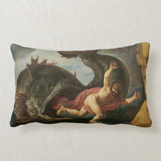 """Jonah and the Whale"" throw pillow Throw Cushion"