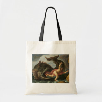 """""""Jonah and the Whale"""" tote bags"""