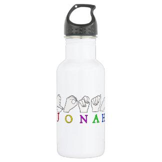 JONAH ASL FINGERSPELLED NAME SIGN MALE 532 ML WATER BOTTLE