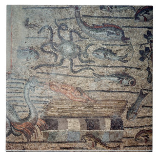 Jonah being Spat Out by the Whale, detail from a d Tiles