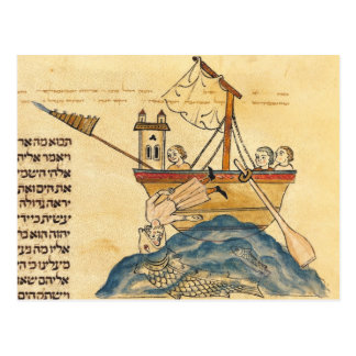 Jonah Eaten by the Whale Postcard