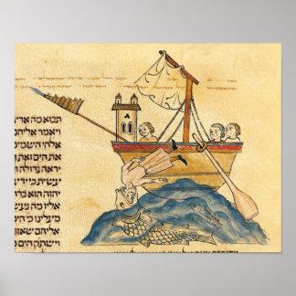 Jonah Eaten by the Whale Print