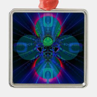 Jonah Silver-Colored Square Decoration