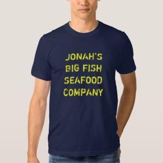 JONAH'S BIG FISH SEAFOOD COMPANY TEE SHIRTS