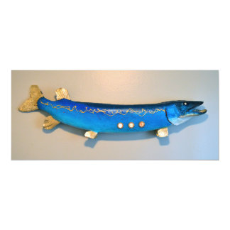 Jonah's fish flat card 10 cm x 24 cm invitation card