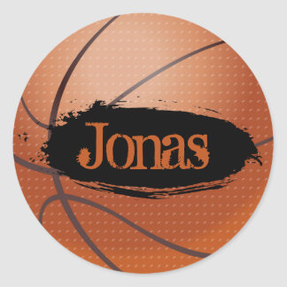 Jonas Grunge Style Basketball Sticker