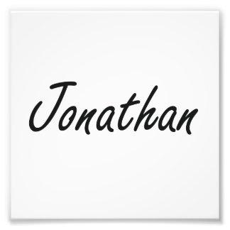 Jonathan Artistic Name Design Photo Print