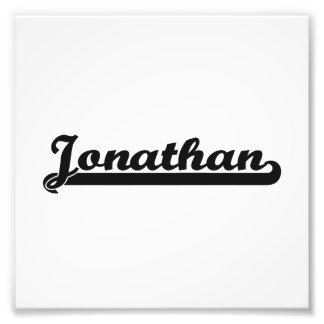 Jonathan Classic Retro Name Design Art Photo