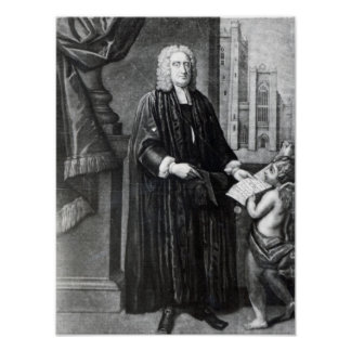Jonathan Swift, engraved by Andrew Miller, 1743 Poster
