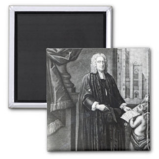 Jonathan Swift, engraved by Andrew Miller, 1743 Square Magnet