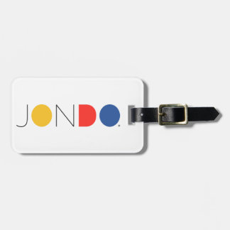 JONDO Luggage Tag w/ leather strap