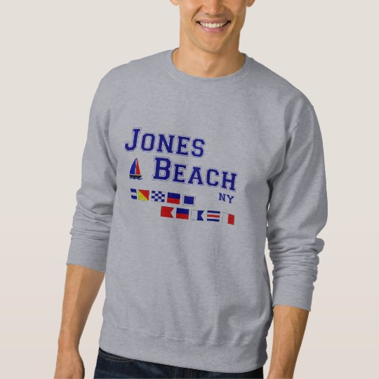Jones Beach NY Signal Flags Sweatshirt