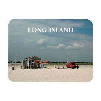 Jones Beach Umbrella Stand Rectangular Photo Magnet