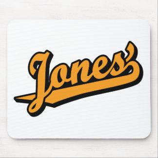 Jones' in Orange Mouse Pad