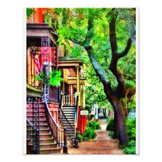 Jones Street, Savannah (OIL EFFECT) Photo Print
