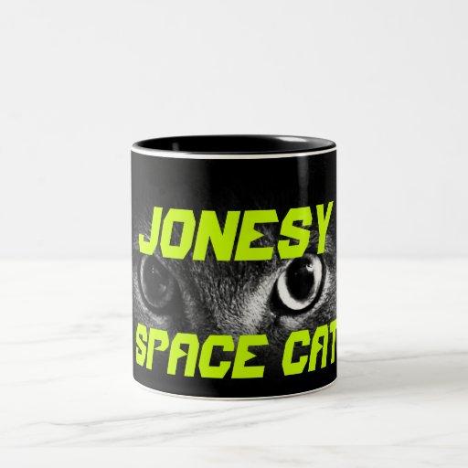 Jonesy: Space Cat Coffee Mugs