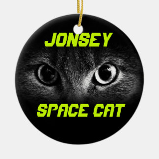 Jonesy: Space Cat Round Ceramic Decoration