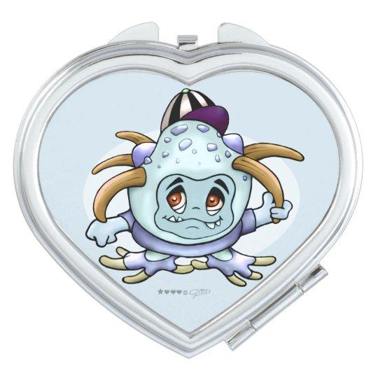 JONI PITTY ALIEN CARTOON compact mirror HEART