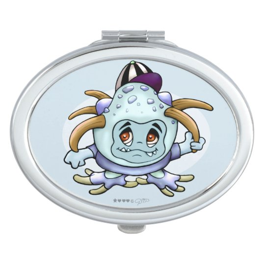 JONI PITTY ALIEN CARTOON compact mirror OVAL