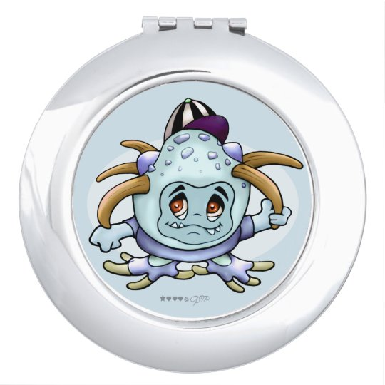 JONI PITTY ALIEN CARTOON compact mirror ROUND