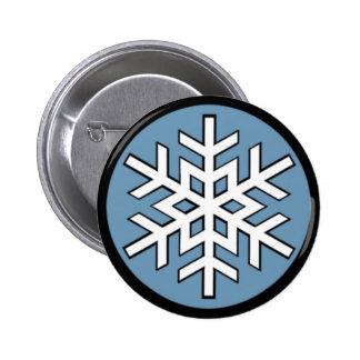 Jonny Snow Snowflake 6 Cm Round Badge