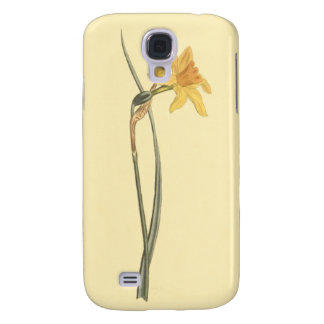 Jonquil Daffodil Yellow Flower Illustration Galaxy S4 Case