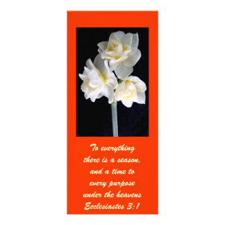 Jonquil Flower - Ecclesiastes 3:1 Customized Rack Card