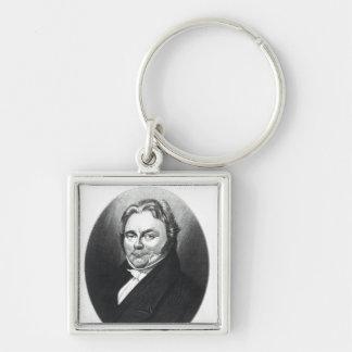 Jons Jakob Berzelius Silver-Colored Square Key Ring