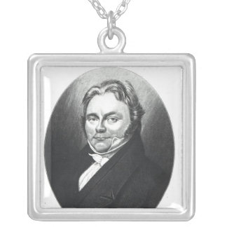 Jons Jakob Berzelius Square Pendant Necklace