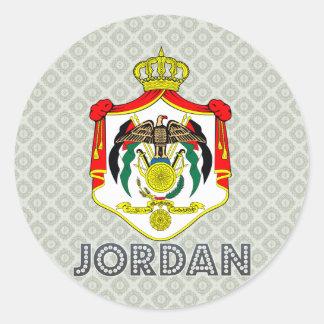 Jordan Coat of Arms Round Sticker