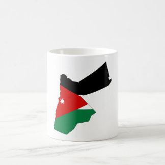 Jordan country flag map shape silhouette coffee mug