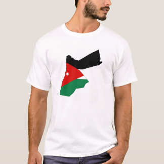 Jordan country flag map shape silhouette T-Shirt